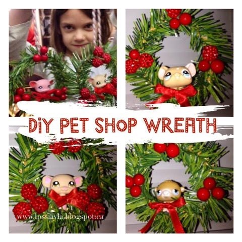 DIY littlest pet shop Chris-mouse wreaths