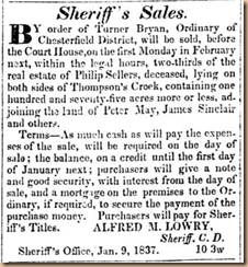 Sheriff's Sale~Phillip Sellers