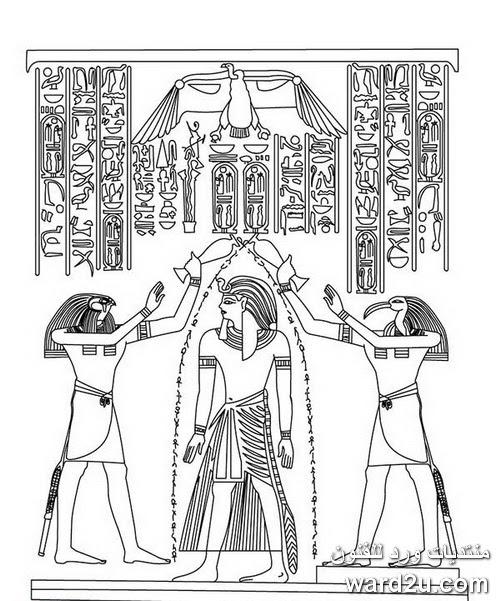 رسومات فرعونية جميلة للتلوين