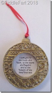 I love you to the moon and back tree decoration