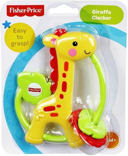 Xúc xắc - Lục lạc Hươu cao cổ Fisher-Price Giraffe Clacker tuyệt đối an toàn