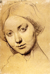 INGRES, Jean Auguste Dominique (1780 – 1867) Study for Louise de Broglie