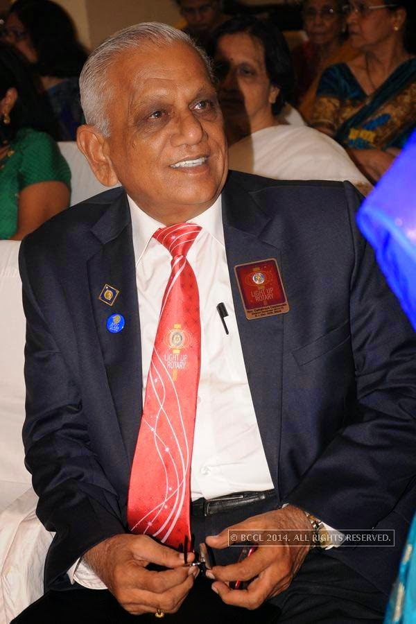 Dattatray Deshmukh during Rotary Club Fort's installation ceremony, held at Heritage Hotel, in Nagpur.