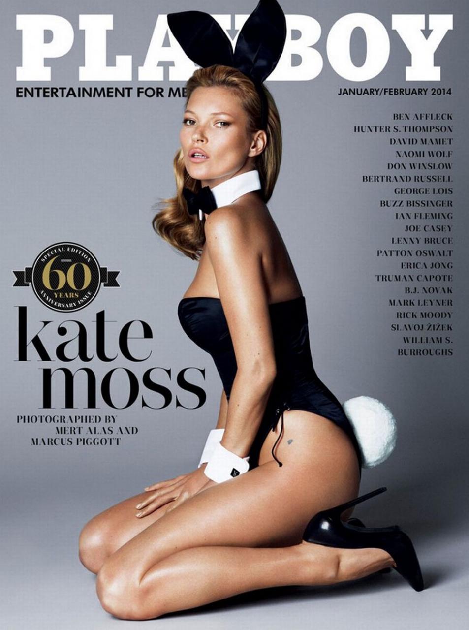 #Playboy 60周年紀念刊:獻上 Kate Moss 兔女郎造型封面 2