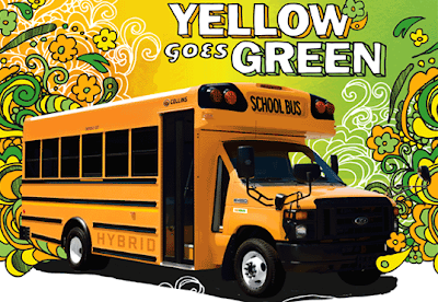 Collins hybrid electric Type A school bus