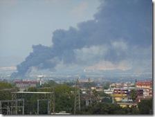 L'incendio visto da Scampia