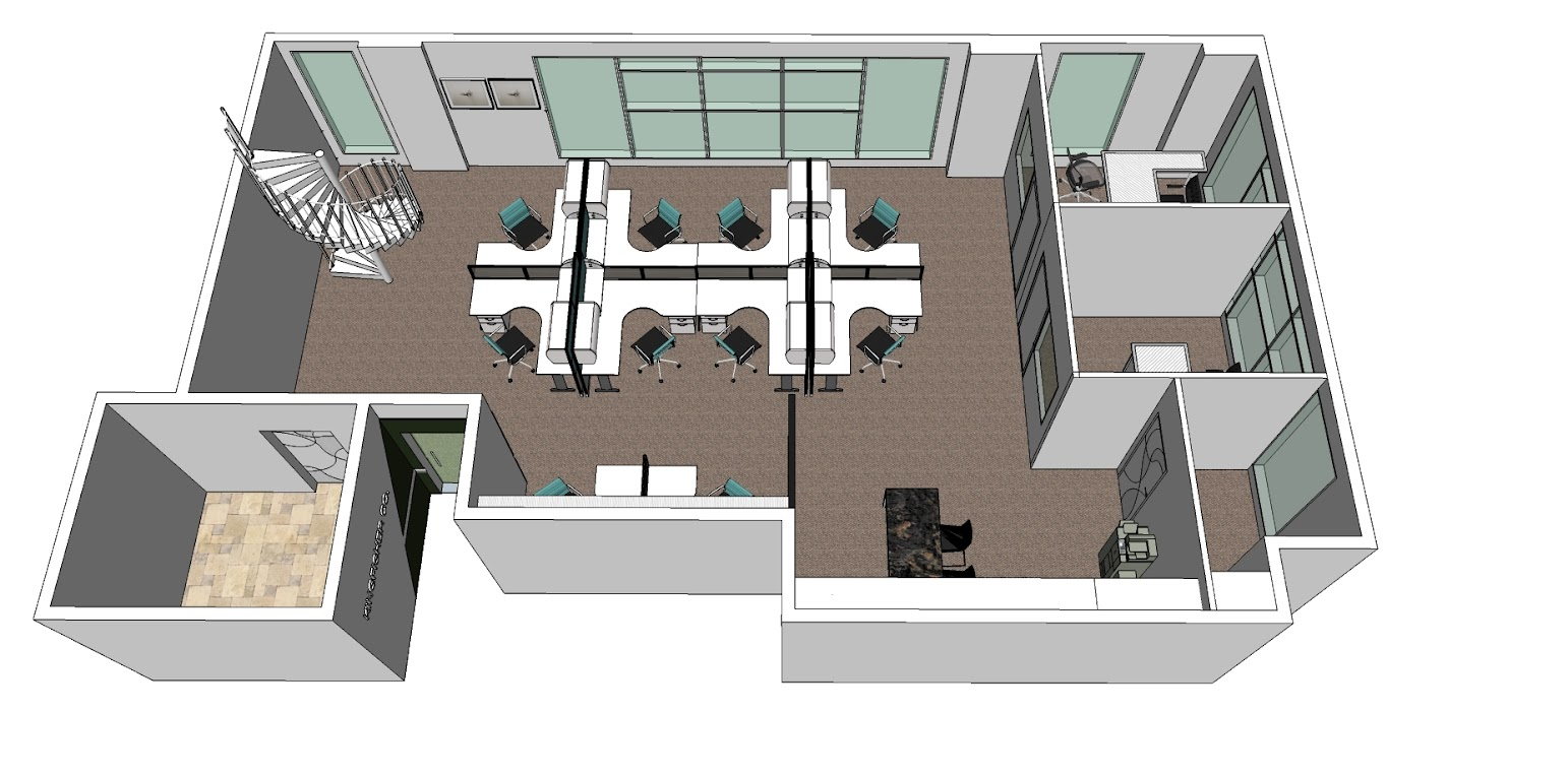 1st floor 3d model layout