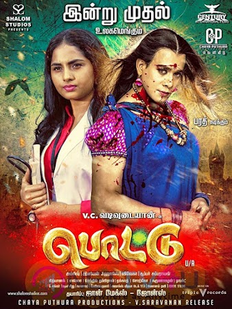 Poster Of Pottu In Dual Audio Hindi Tamil 300MB Compressed Small Size Pc Movie Free Download Only At worldfree4u.com