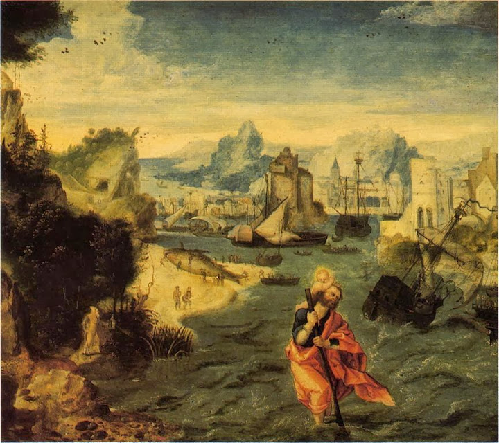 Herri met de Bles - Landscape with St. Christopher (detail)