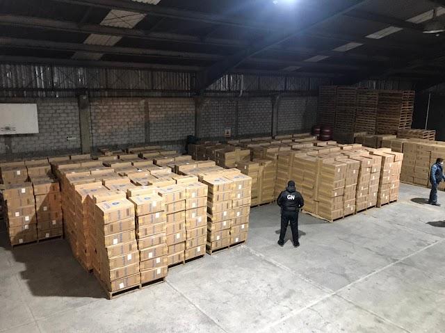 DECOMISA GUARDIA NACIONAL CERCA DE 30 MILLONES DE CIGARROS DE APARENTE PROCEDENCIA ILÍCITA