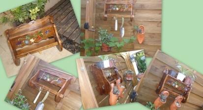 Une étagère pour le jardin  PeintBois2