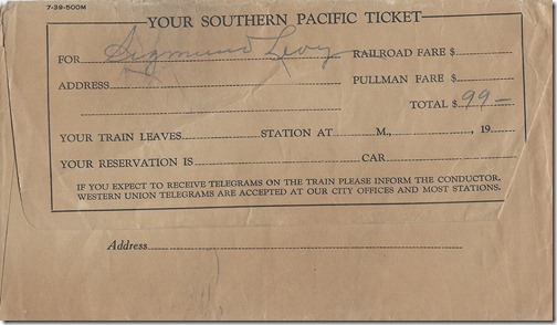 Southern Pacific Tickets