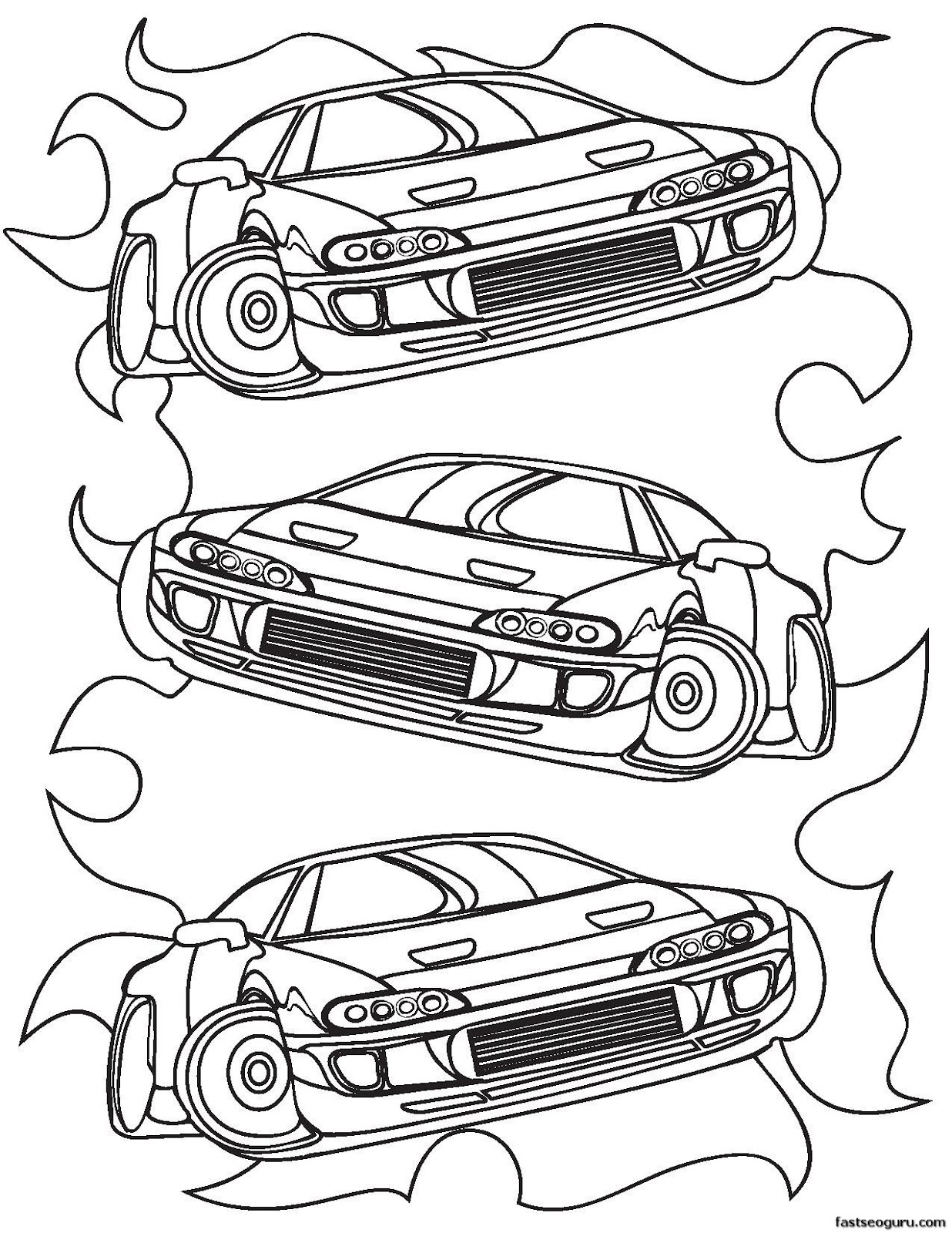 Top Race Cars Coloring Pages For Boys Images