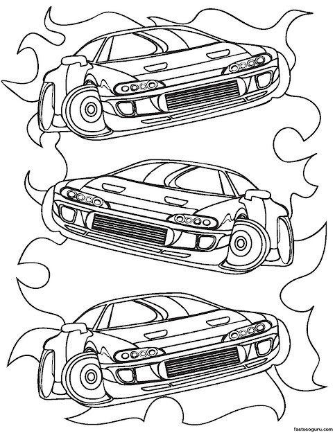 Race Nubmer  Colouring Pages Page