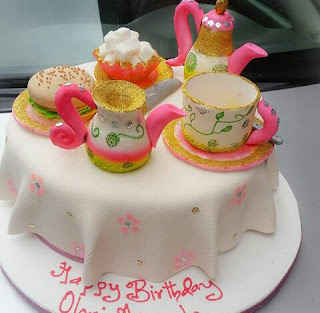 Another tea set cake