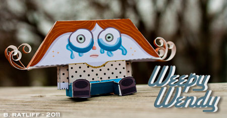 Weepy Wendy Paper Toy