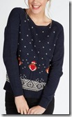 Fat Face Rockin Robin Christmas Jumper