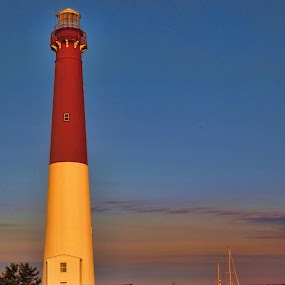 Old Barnie at Sunrise - Barnegat Lighthouse by Andrea Everhard - Buildings & Architecture Other Exteriors