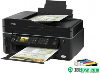 How to reset flashing lights for Epson TX610FW printer