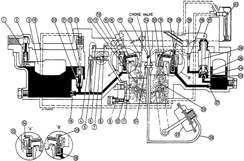 Внутренние топливные и воздушные каналы - Suzuki SJ413