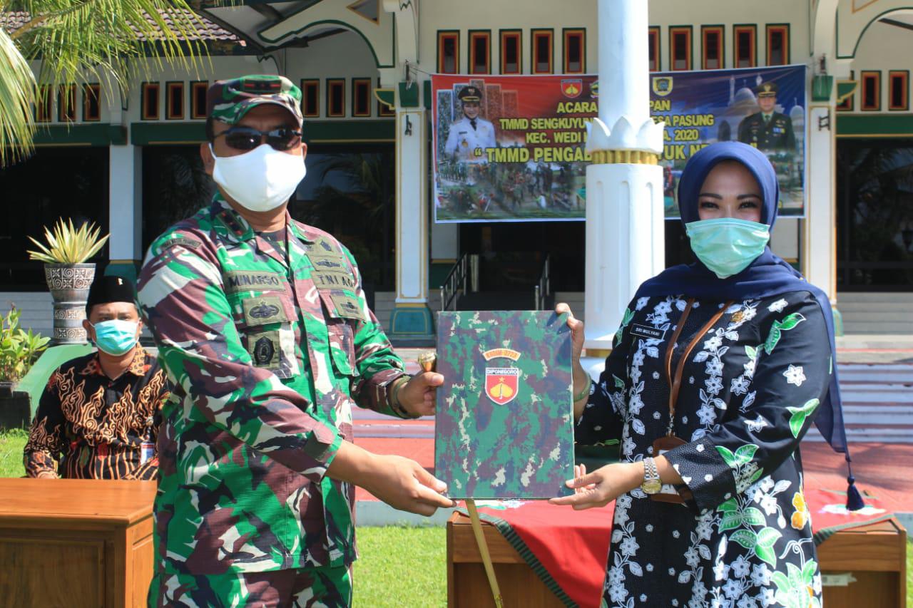 TMMD Sengkuyung Tahap I di Desa Pasung,  Terukir Prestasi Ditengah Pandemi Virus Corona