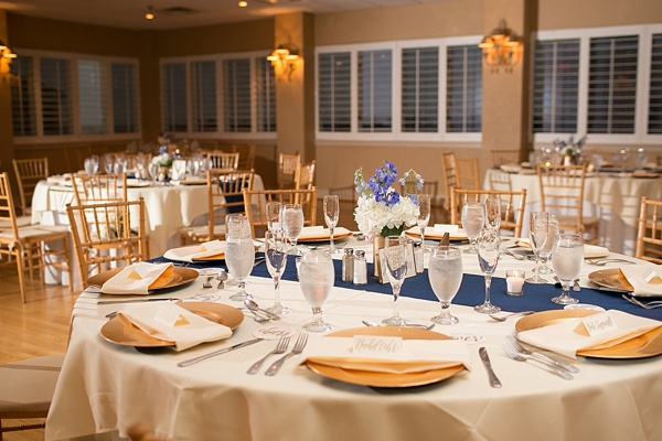 Navy Blue And Gold Lesner Inn Wedding Tidewater