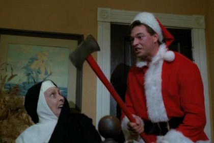 Ricky teaches Mother Superior the true meaning of Axe-Mass: severe punishment.