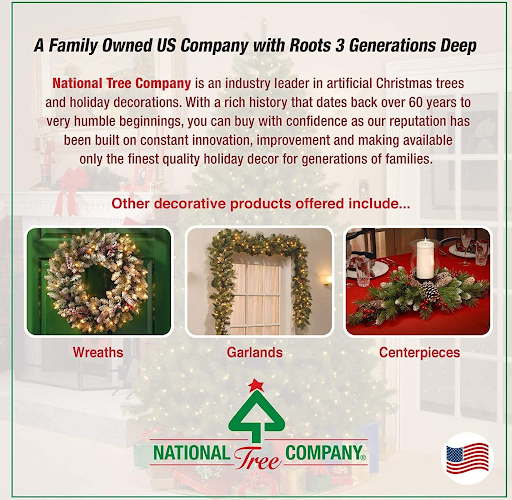National Tree Company Pre-lit Artificial Christmas Garland   Flocked with Mixed Decorations and Lights   Christmas decorations   Amazon's Choice
