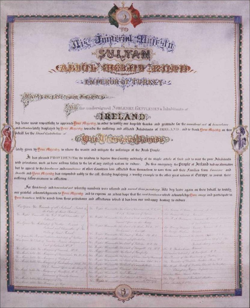 surat Irlandia