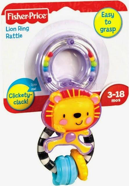 Lục lạc sư tử Fisher-Price W5803 Lion Ring Rattle