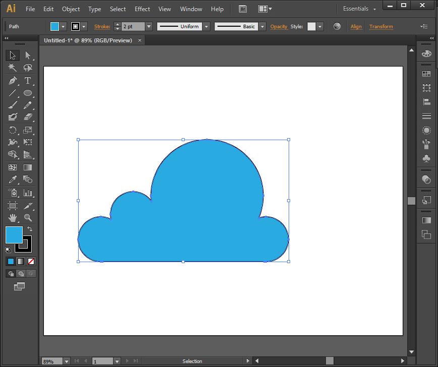 Cara Membuat Vektor Awan di Adobe Illustrator