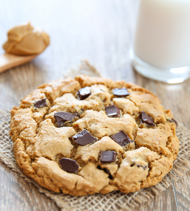 close-up photo of the cookie