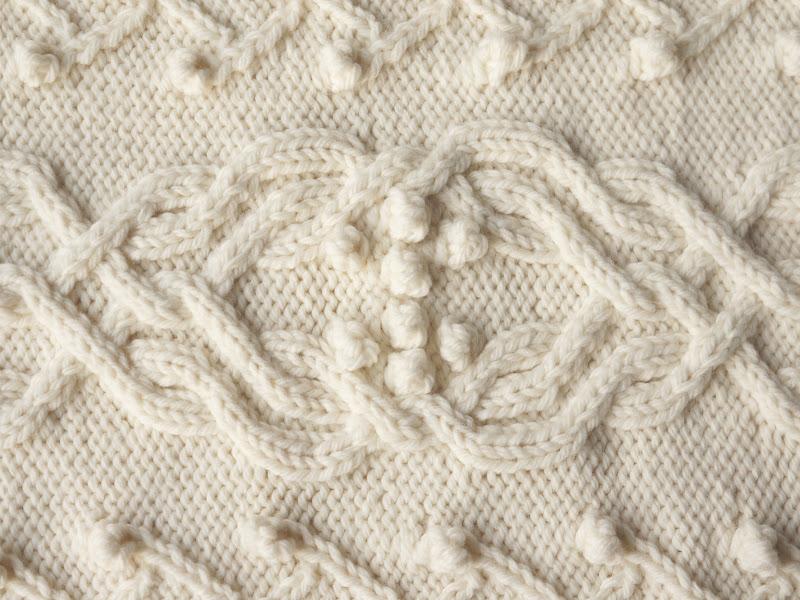 Knitted aran wallpaper