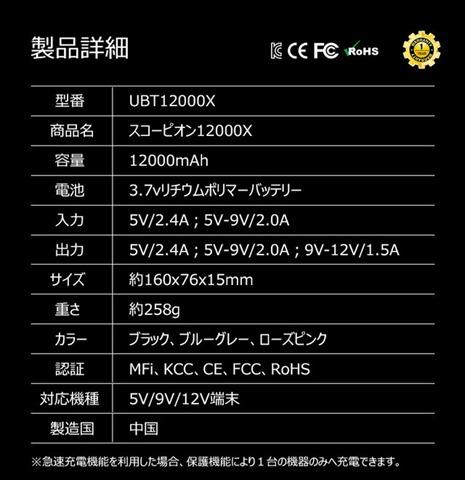 detail 3350 1508240552 thumb%255B2%255D - 【ガジェット】4種類のケーブル内蔵型モバイルバッテリー「iWALK」(アイ・ウォーク)が5580円でクラウドファンディング中!!!!