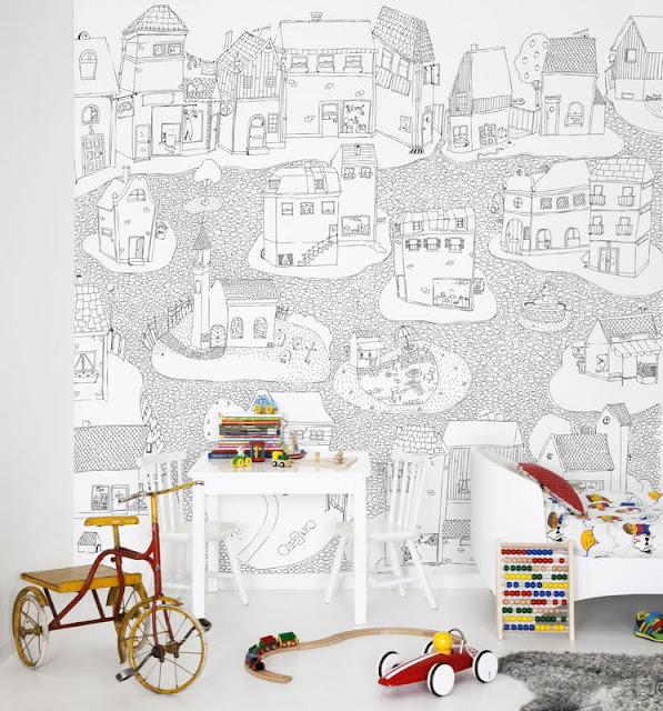 tapeten zum ausmalen dekomilch. Black Bedroom Furniture Sets. Home Design Ideas