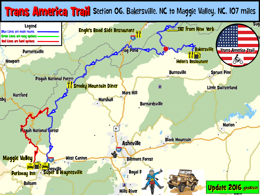 Maggie Valley Nc Map TAT Section 06 Bakersville NC to Maggie Valley NC   gpsKevin