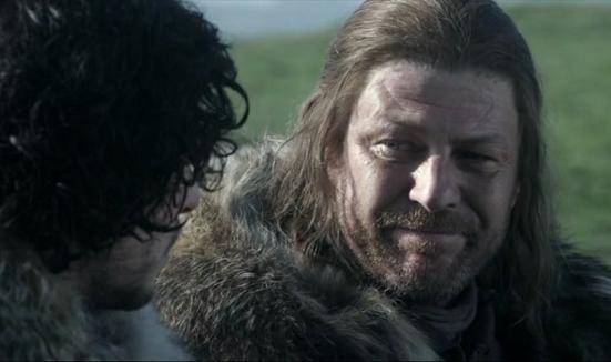 Eddard Stark et Jon Snow