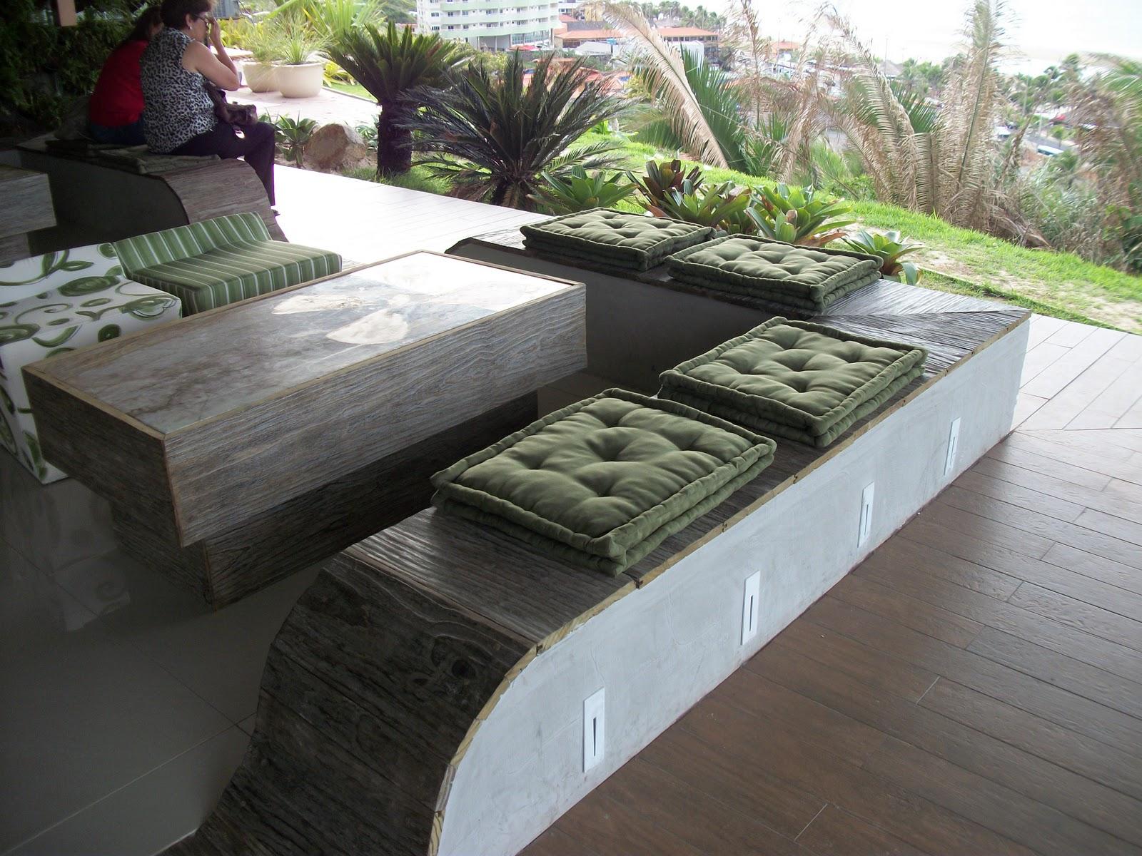 Arquitetando paisagismo e lazer casa cor maranh o - Bancos de cemento ...