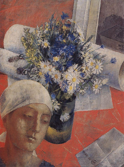 Kuzma Petrov-Vodkin - Still Life (with a female head)