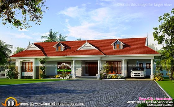 Kerala model singel storied house