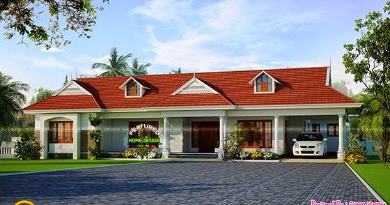 single-floor-home-thumb Kerala Home Design With Long Veranda on modern mountain home designs, enclosed pergola designs, best energy efficient home designs, homes with flat roof designs, homes with carport designs, front verandah designs, mobile home designs, spanish home designs,