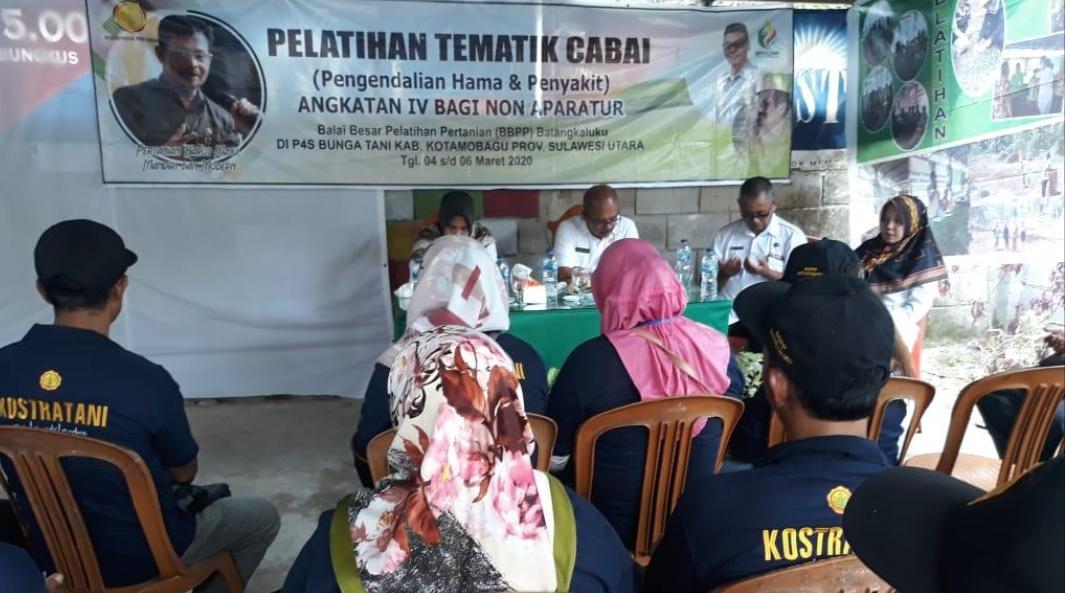 Kadis Pertanian Kotamubagu Buka Pelatihan Tematik Cabai dan Bawang yang di Selenggarakan Oleh BBPP Batangkaluku