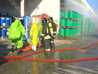Esercitazione Antincendio con VVF