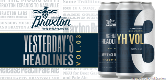 Braxton Yesterday's Headlines Volume 3 Coming to Cans