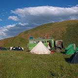 Le campament à Kichi Kara Kuchur (2600 m) au Sud de la Dolon Pass, 15 juillet 2006. Photo : B. Lalanne-Cassou