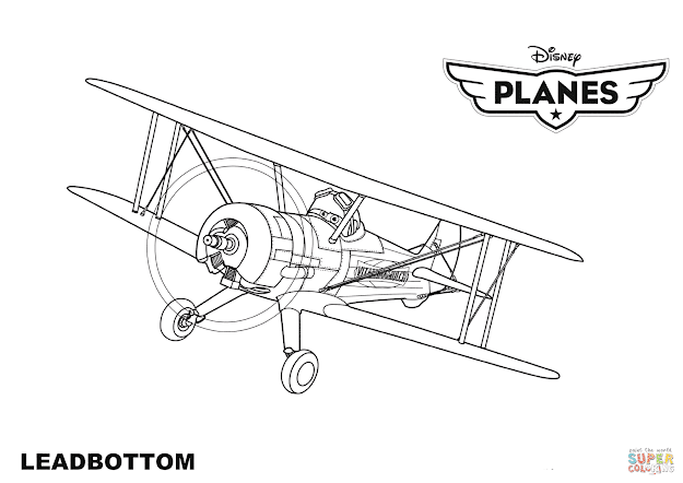 Click The Disney Planes Leadbottom Coloring Pages