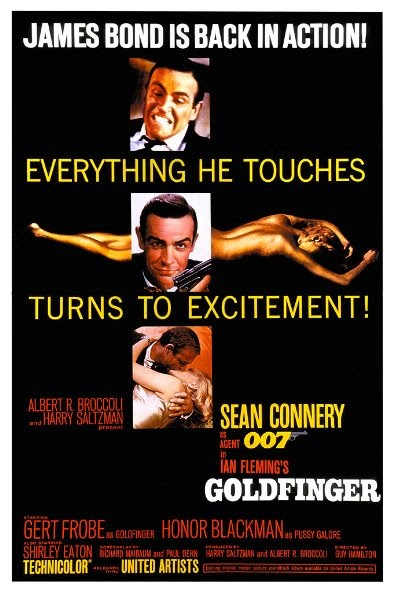 Poster Of Goldfinger (1964) Full Movie Hindi Dubbed Free Download Watch Online At Alldownloads4u.Com