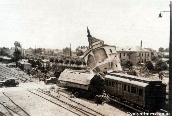 Ст. Ковель після бомбардування