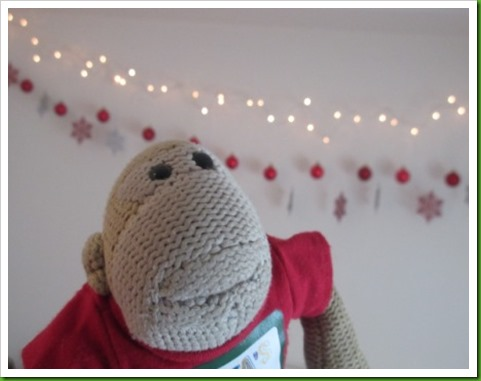 Festive bedroom garlands