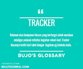tracker dalam bullet journal adalah